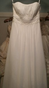 David's Bridal Strapless Chiffon V9743 Wedding Dress