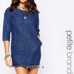 ASOS short dress Blue Denim on Tradesy