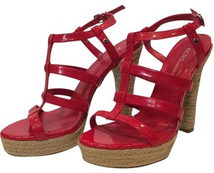 BCBGeneration Platform Sandal High Heel Red Platforms