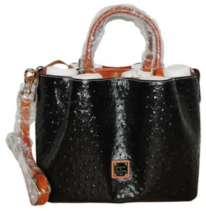 Dooney & Bourke Barlow Ostrich Satchel in Black