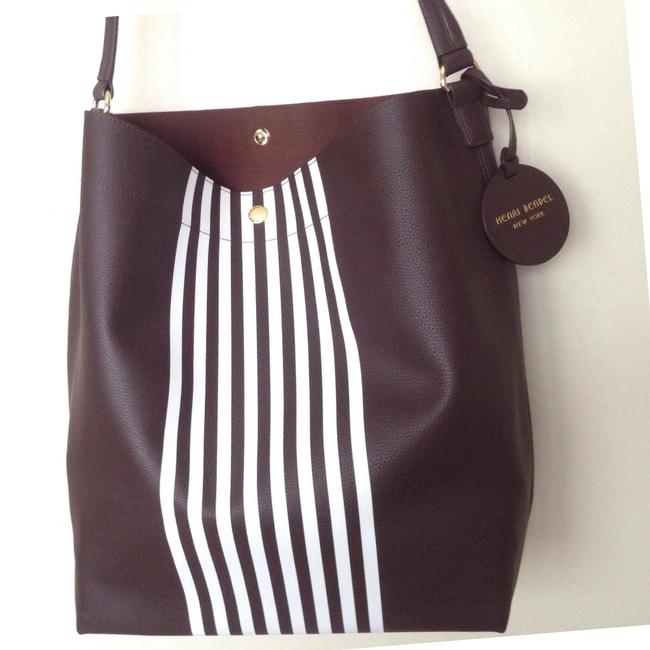 Item - Brown / White Hobo Bag
