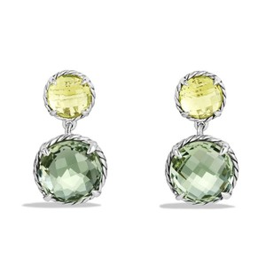 David Yurman Chatelaine Double Drop Earrings with Lemon Citrine and Prasiolite