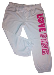 PINK Vs Sweats Athletic Pants Bright WHITE