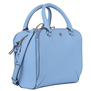Tory Burch Saffiano Leather Tote in Riviera Blue