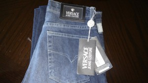 Versace Jeans Collection Straight Leg Jeans-Medium Wash