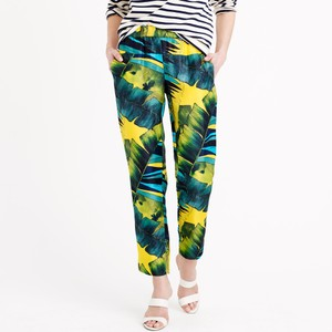 J.Crew Tropical Straight Pants Green/blue