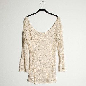 Crochet Lace Off The Shoulder Sweater