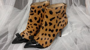 Charlotte Olympia Boot Bow Calf Hair Leopard Print Boots