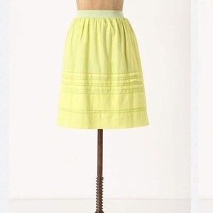 Anthropologie Skirt Yellow, Green