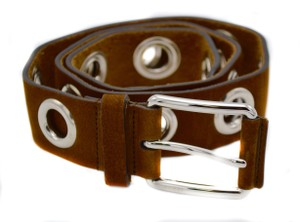 Gucci Gucci Women's Brown Leather Open Studs Belt
