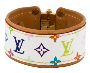 Louis Vuitton White Multicolore LV Monogram Louis Vuitton Save It bracelet