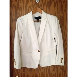 Ann Taylor White with gold accents Jacket