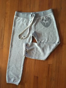 PINK Vs Sweats Campus Gray Large Athletic Pants Heather Gray