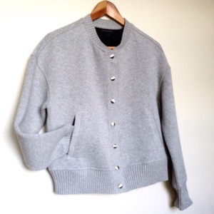 Banana Republic Bomber Light gray heather Jacket