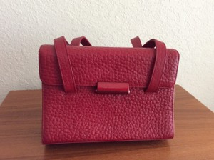 Mandarina Duck Classic Leather Satchel in Red