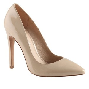 ALDO Patent Leather Pointed Toe Classic Formal Stiletto Nude Pumps