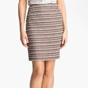 Halogen Skirt Black, White, Orange, Tan