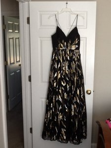 Aidan Mattox Gown Prom Metallic Dress