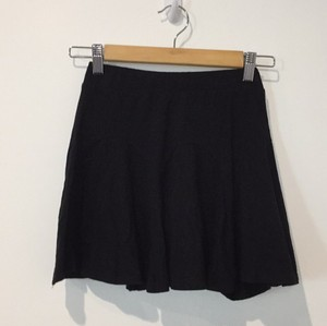 Silence + Noise Mini Elastic Mini Skirt Black