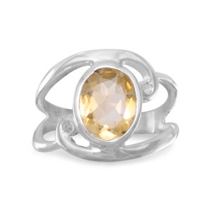 Other Sterling Silver Citrine Ring