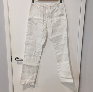 Forever 21 Linen White Draw String Relaxed Pants