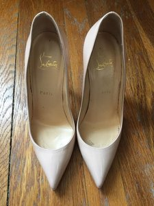 Christian Louboutin Wedding Patent Nude Pumps
