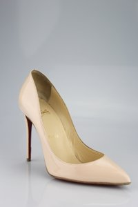 Christian Louboutin Nude Patent Wedding Stilleto Light Pink Pumps