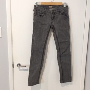 Free People Jeans Skinny Skinny Pants Grey