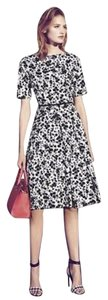 Maggy London Cut-out Floral Sateen Midi Dress