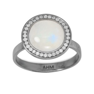 Other Moonstone Diamond Halo Ring