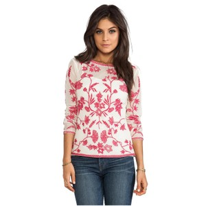 Temperley London Embroidered Luxe Top Geranium