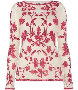 Temperley London Embroidered Luxe Summer Top Geranium