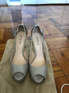 Guess Comfortable Nude Patent Pumps