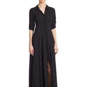 black Maxi Dress by Free People After The Storm Shirt Maxi