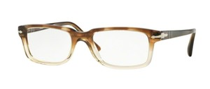 Persol NEW Classics Eyeglasses PO 3130V c. 1037 Striped Brown Crystal 52mm