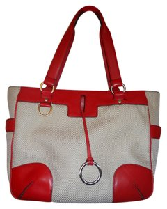 Antonio Melani Tote in biege & red