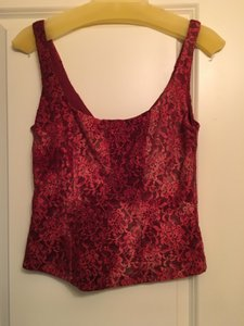 Cache Lace Sequin Top red