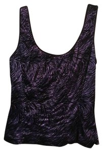 Cache Zipper Top purple and black