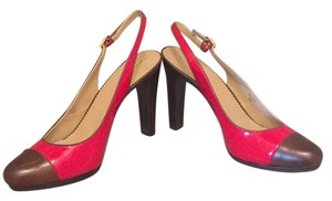 Tahart Bright red & brown Platforms