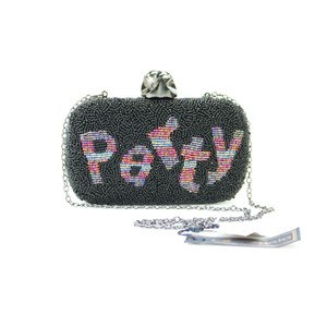 La Regale Party Lr Black Clutch