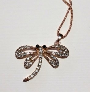 Betsey Johnson Long Betsey Johnson Dragonfly Necklace Gold Necklace N304