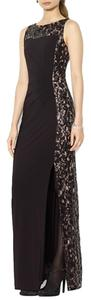 Betsy & Adam Lace Sequin Sheath Dress