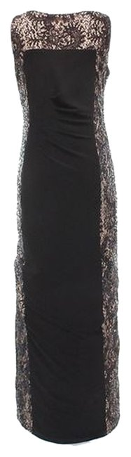 Betsy & Adam Lace Sequin Sheath Dress Image 2
