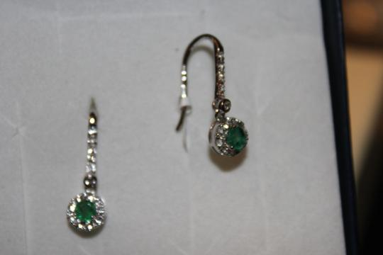 Other Sterling silver and zambian emerald and white topaz Earrings