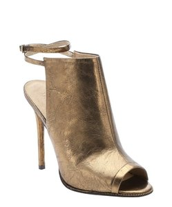 L.A.M.B. Metallic Ankle Open Toe Ankle Strap Bronze Boots