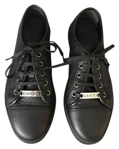 Gucci Tennis Pebbled Leather Black Athletic