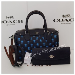 Coach Set Gift Set Gift Box Floral Handbag Wallet Set Cross Body Bag