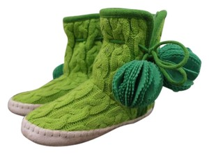 Kate Spade Slippers Warm Comfortable Green Boots