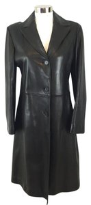 Calvin Klein Lambskin Leather Trench Coat