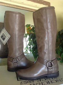 Frye Phillip Harness Grey Boots